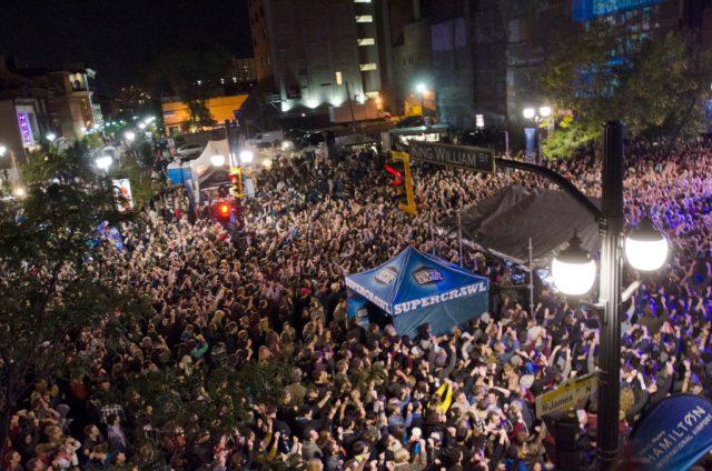 Hamilton, Ontario, September 13,2014, Huge crowds at The Arkells concert Friday night at SuperCrawl. Cathie Coward/ Hamilton Spectator