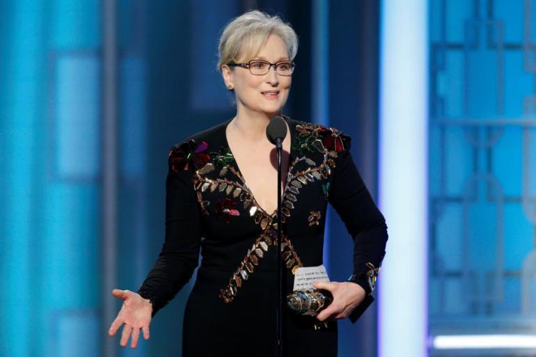 Meryl Streep emociona com discurso no Globo de Ouro 2017! 18
