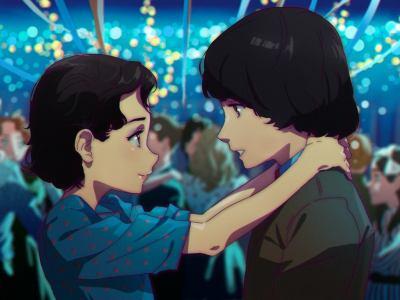 Artista cria versão anime deEleven e Mike, da sérieStranger Things 46