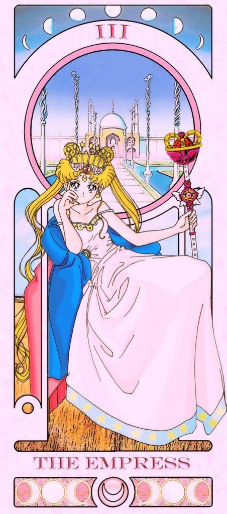 Essa ilustradora americana criou um baralho de tarô inspirado em Sailor Moon 17