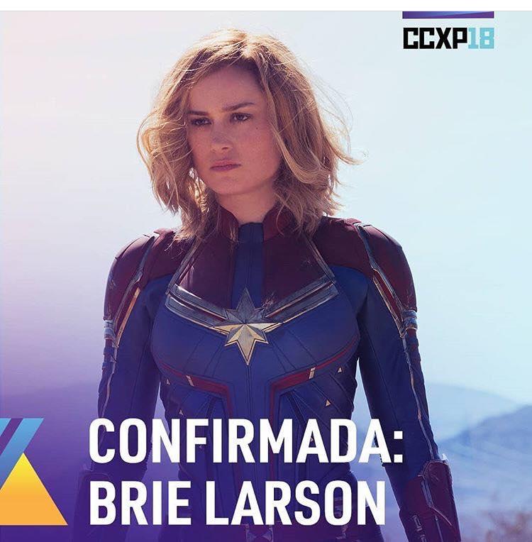 Brie Larson, a Capitã Marvel, confirma presença na CCXP 2018 17