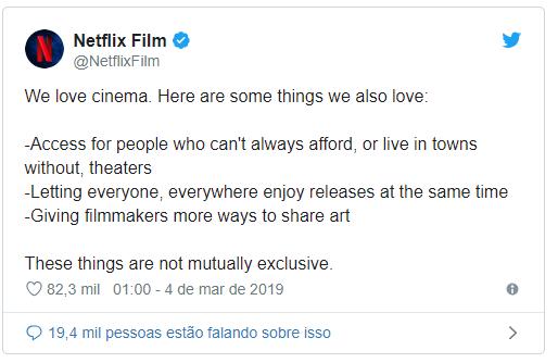 Netflix responde a iniciativas que tentam barrar seus filmes no Oscar 17