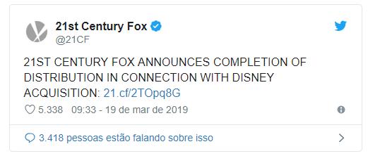 21st Century Fox faz anúncio oficial da compra pela Disney 17