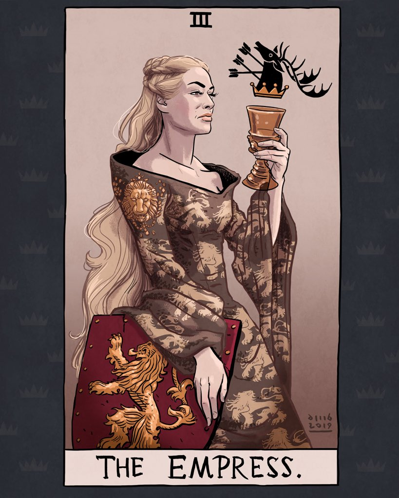 Artista ilustra Tarot incrível de Game of Thrones 19