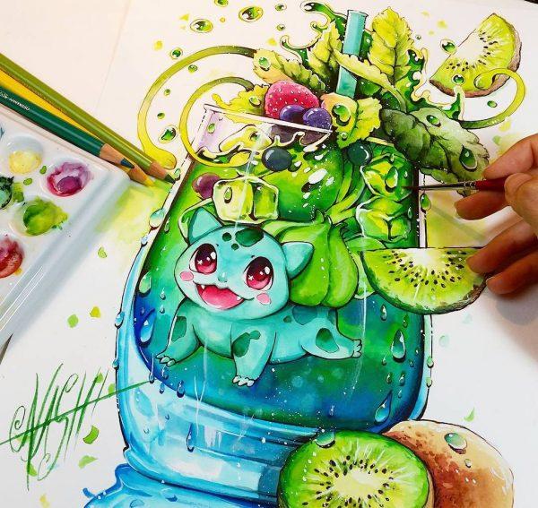 Artista desenha ilustrações fofas e geeks em versão Chibi 30