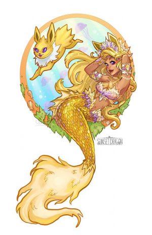 Artista desenha evoluções do Eevee como Sereias 22