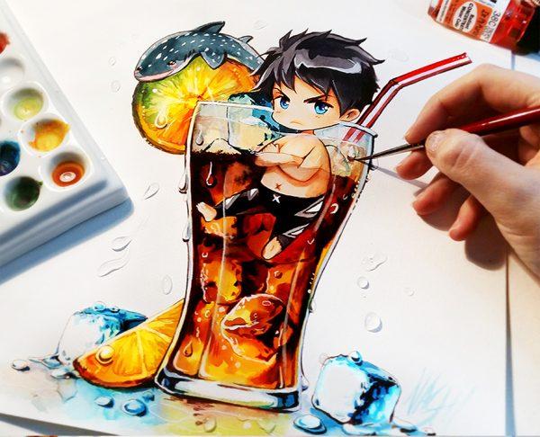 Artista desenha ilustrações fofas e geeks em versão Chibi 21