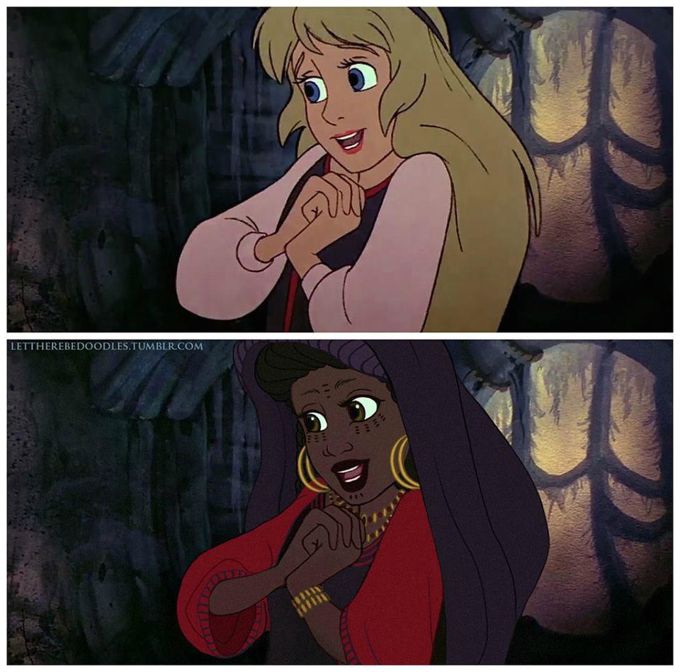 Princesas Disney com diferentes etnias 21
