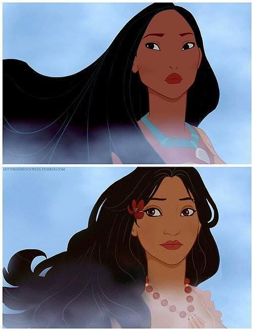 Princesas Disney com diferentes etnias 34