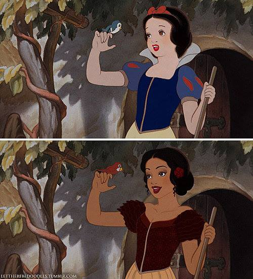 Princesas Disney com diferentes etnias 27