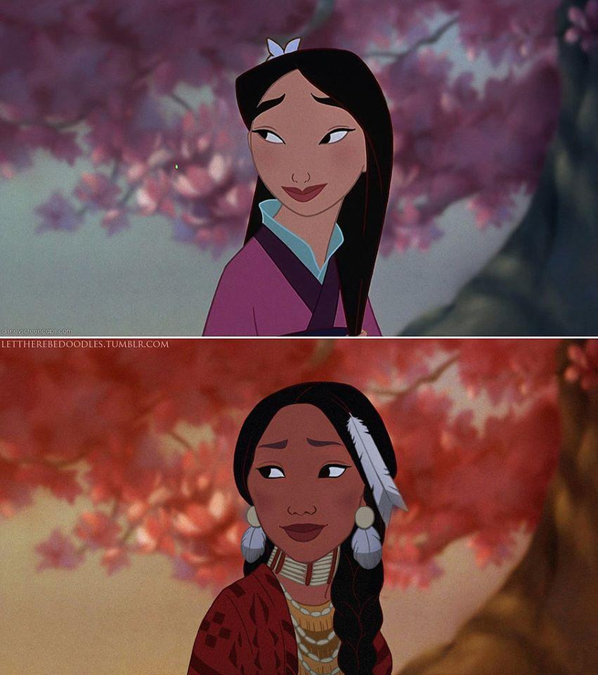 Princesas Disney com diferentes etnias 26