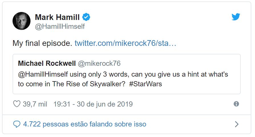 Mark Hamill diz que Star Wars: A Ascensão Skywalker será sua despedida 17