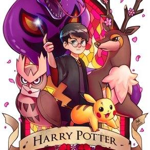 Artista cria série de imagens unindo Pokémon e Harry Potter! 21