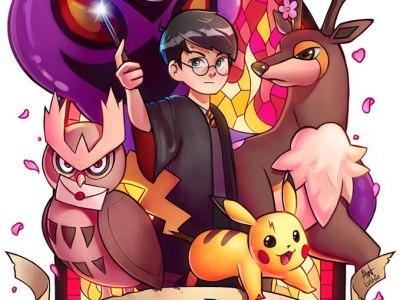 Artista cria série de imagens unindo Pokémon e Harry Potter! 14