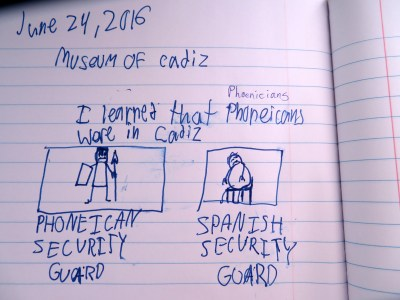 In Tommy's defense, this is an accurate depiction of what we saw in the museum.