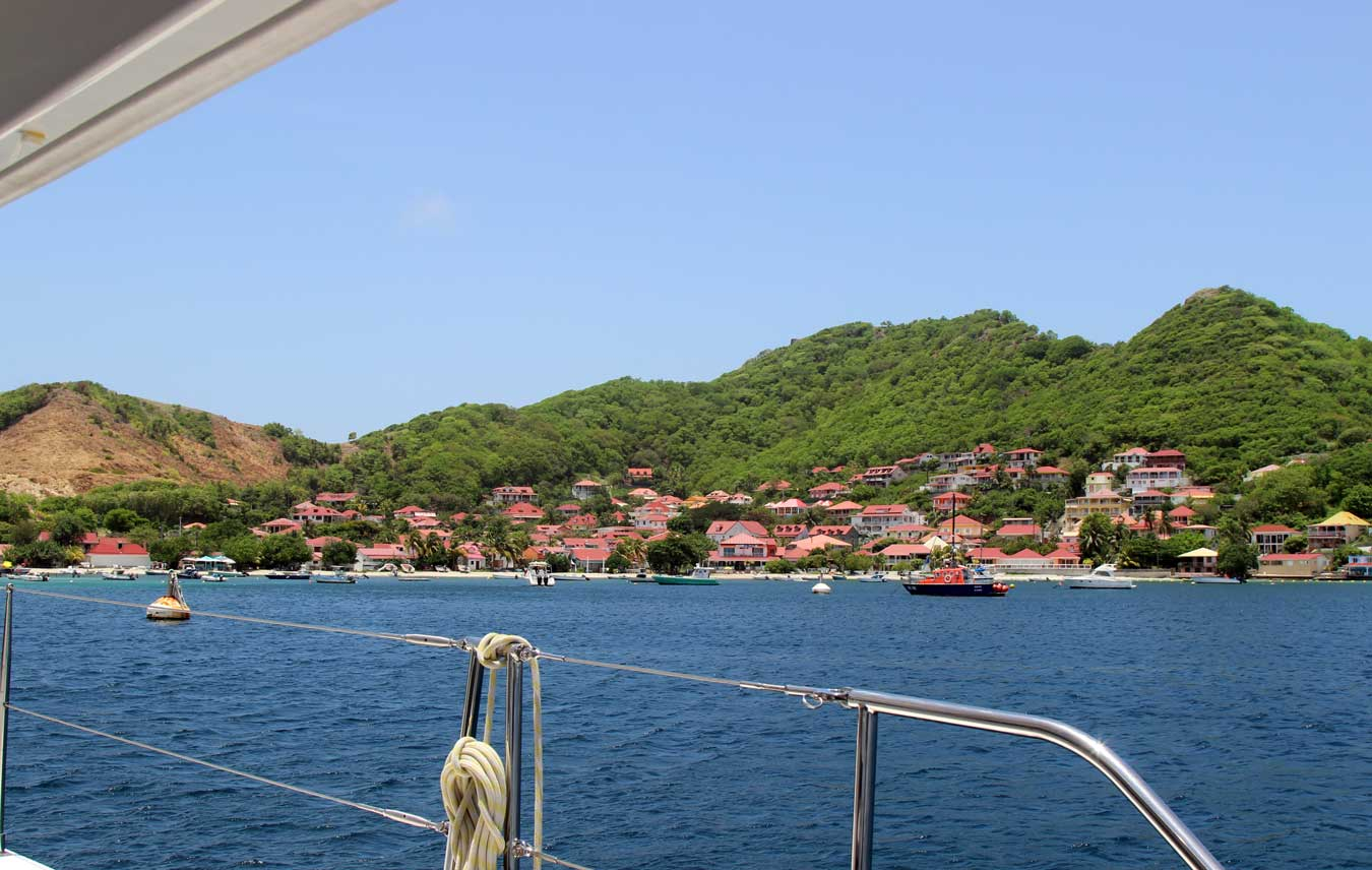 We survey our surroundings in the beautiful Les Saintes