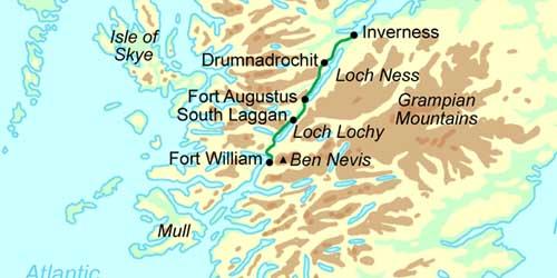 Loch Ness Karte.Gymnasium Unterrieden Sindelfingen Studienfahrt Schottland