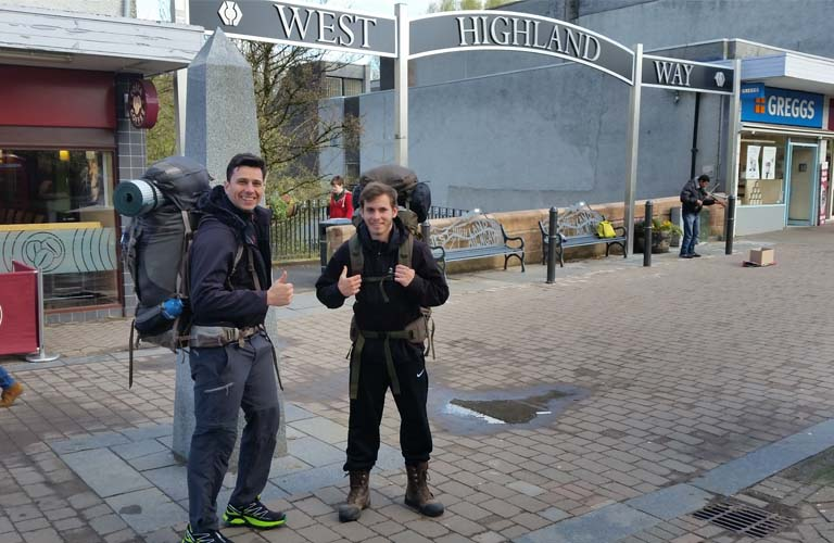 West Highland Way Schottland Start Milngravie