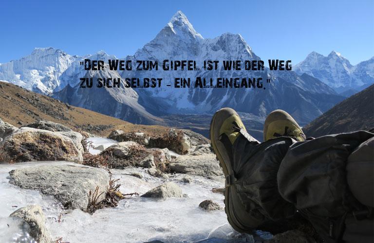 Mount Everst Three Passes Trek Zitate Bergsteigen Sprüche Stefan Schüler Himalaja