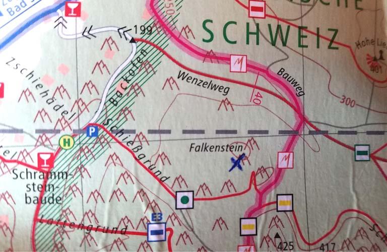 Falkenstein Malerweg Zelten Sächsische Schweiz Trekking Deutschland