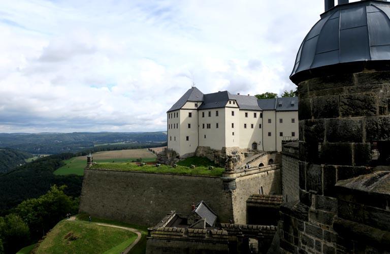 Festung Königstein Malerweg Zelten Sächsische Schweiz Trekking Deutschland