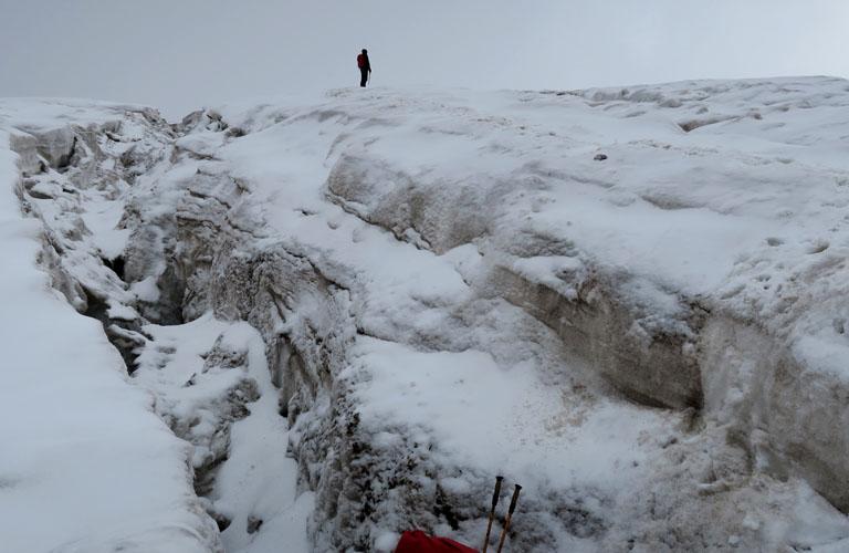 Gergeti Gletscher Kasbek Bericht Mount Kazbek Bergsteigen Kaukasus Georgien