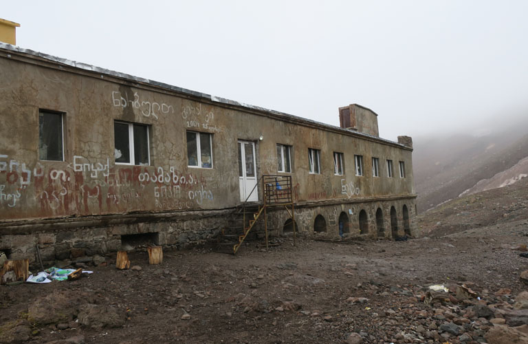 Metrologische Station Kasbek Bericht Mount Kazbek Bergsteigen Kaukasus Georgien