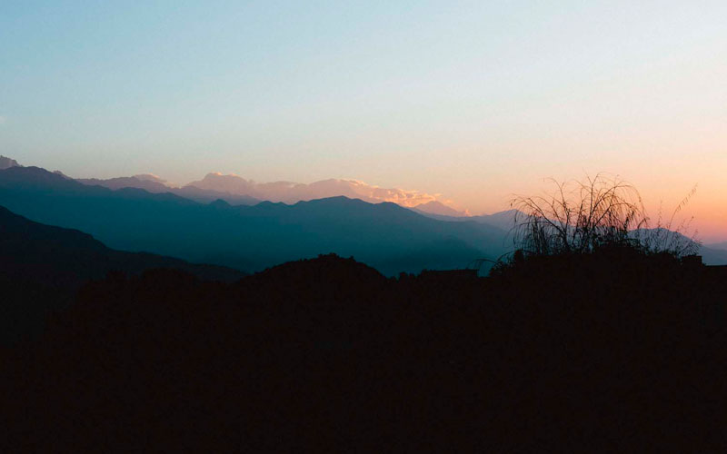 Mardi Himal Trek Sonnenaufgang Nepal Trekking Annapurna Conservation Area