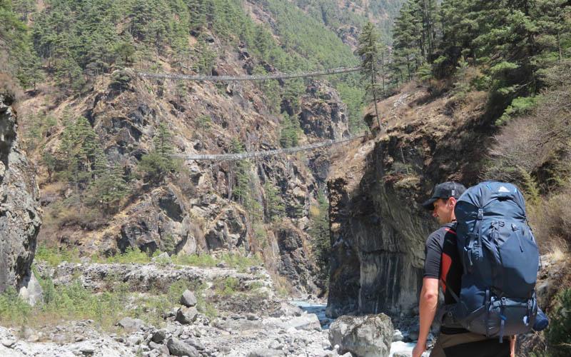 Test Rucksack Gregory Baltoro 85 Modell 2018 Nepal Everst Base Camp Trek burning feet