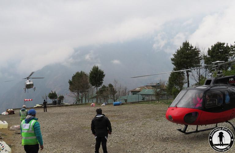 Gokyo Lakes Trek Lukla Helikopter