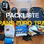 Packliste Reiseenduro