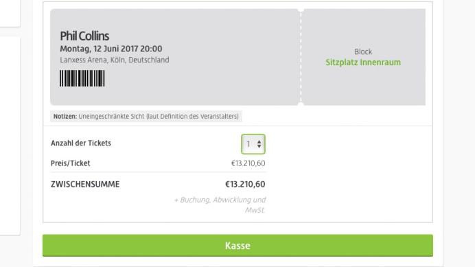 Phil Collins Ticket Köln Cologne Paris London 2017