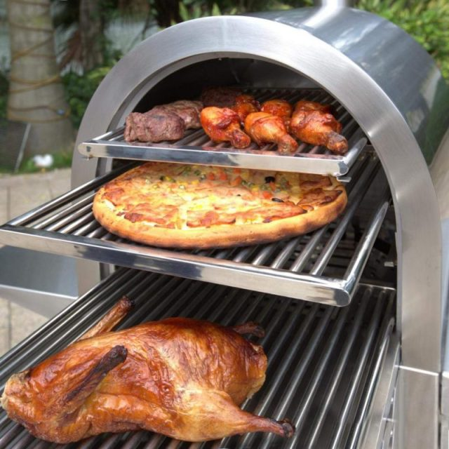 Smoke-N-Hot Smoker Pizza Oven Grill