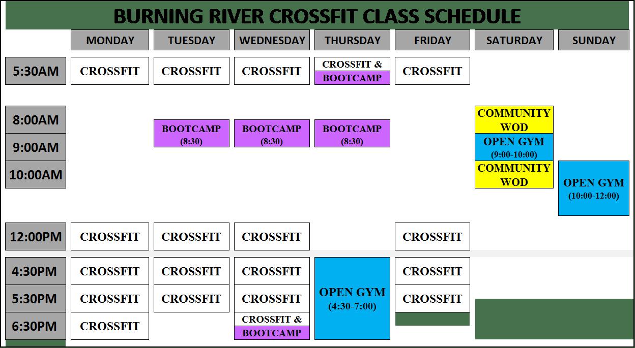 free class schedule
