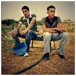 Taha, on the right ,will start to study in Bethlehem University next year, but most of the young who graduate are unemployed.