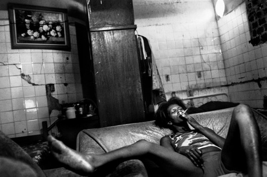 Noemi (38), drugs addicts and mentally handicapped. She works as cook and prostitue to survive after her husband and brother died in a car accident one year ago. She lives inside the abandonated chocolate factory since 2003.
