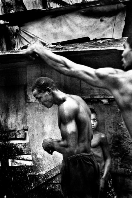 Fight in the communal showers. The stress of living in extreme conditions does increase the signs of violence in the factory.