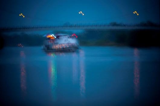 Wroclaw, Poland. A pleasure boat.