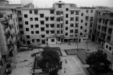 Residential housing blocks and courtyard in South Changsha, China 2008.