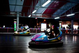 """A young couple in their bumper car in """"Basraland,"""" a recently opened amusement park in the southern Iraqi city of Basra. Iraq's second city, Basra is attracting development and foreign investment. It has become relatively stable. Security, however, has come at the expense of cosmopolitanism. It is now almost exclusively Shiite Muslim, it's Sunni, Christian and Mandaean communities have dwindled to near near extinction."""