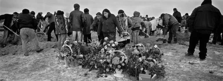 Funeral for car accident victims, Manderson, Pine Ridge Reservation. (2010)