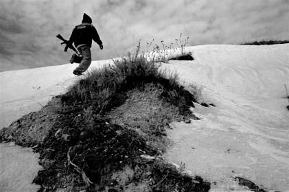 Hunting deer, Pine Ridge Reservation. (2010)