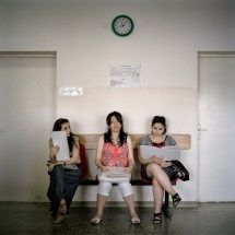 """Expectant mothers wait for check-ups at Stepanakert Maternity Hospital. Any couple married after 1st January 2008 will benefit from the government's """"birth encouragement program"""" which gives cash payments for each baby born. Stepanakert, Nagorno Karabakh, 2011."""