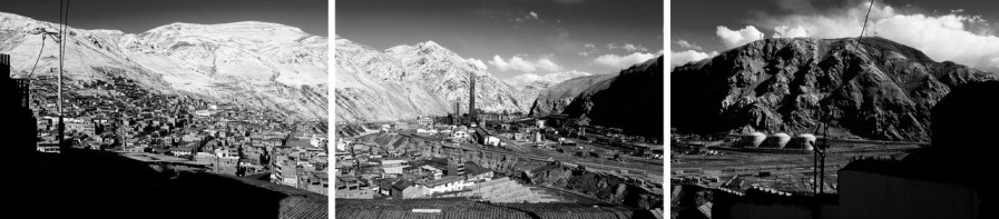 PERU. AUGUST 2009. View of the city of La Oroya and the American-owned smelter, Doe Run Company.