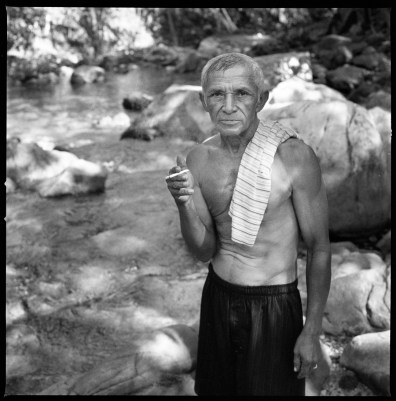 """Josias """"Jonas"""" Gonçalves a former guerilla fighter in the early 1970's, photographed in Serra das Andorinhas in the Amazon where he fought against the Brazilian army, Araguaia region, Para State. Sao Geraldo do Araguaia, Brazil, August 2011."""