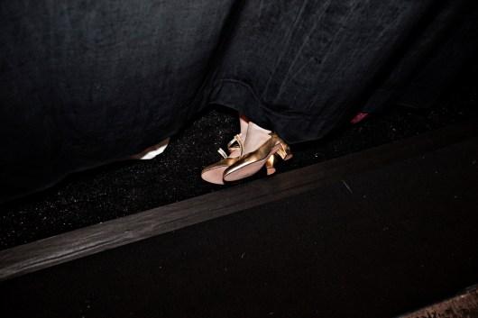 Academy of Art University backstage, New York Fashion Week, 2009.
