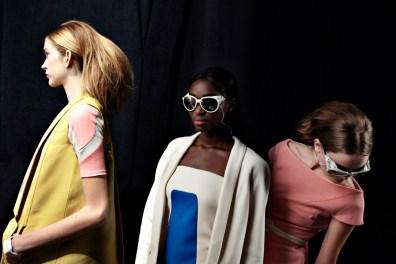 academy of art university backstage, new york fashion week- sept 2009.