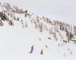 The ski slope of Dossdecembri in Pejo TN, 2010. It is located on the eastern side of Mount Vioz within the boundaries of the Stelvio National Park. In Italy during the early 70's a growing enthusiasm towards the exploits of the national ski team during the Olympics and the World Championship, along with a general spread of wealth, led to the assumption that ski tourism was to be the solution to the depopulation process. Due to global warming, large-scale abuse and bankruptcy the Northern regions of Italy alone are home to 186 stopped skiing facilities, 4000 abandoned pylons and millions of cubic meters of concrete.