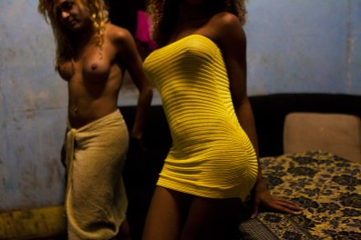 In an old house in the neighborhood of Lapa, in Rio de Janeiro, live and work as prostitutes, about 25 tranvestites. Valeria and Shaw live are soime of them. Photo: Ana Carolina Fernandes