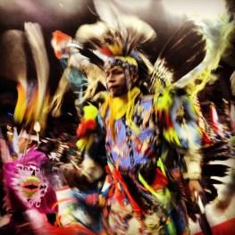 Native American Dancer. Denver, Colorado.